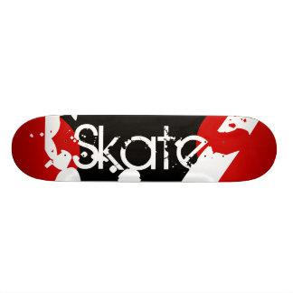 Monopatín rojo, negro y blanco de la pintada del m patinetas personalizadas