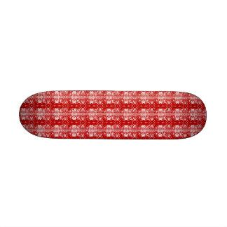 Monopatín rojo y blanco del placer mini monopatin personalizado