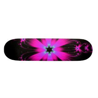 Monopatín rosado de la explosión de la flor patines personalizados