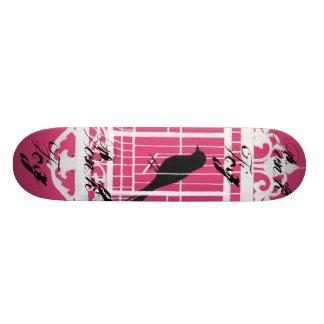 """Monopatín rosado de la niebla patineta 7 3/8"""""""