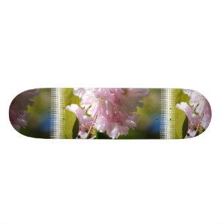 Monopatín rosado de las flores de cerezo