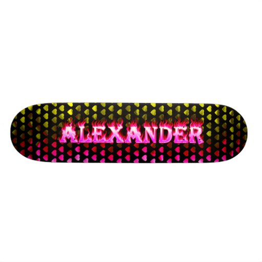 Monopatín rosado de Skatersollie del fuego de Alex