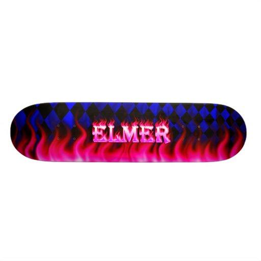 Monopatín rosado de Skatersollie del fuego de Elme