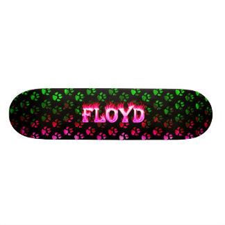 Monopatín rosado de Skatersollie del fuego de Floy