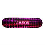 Monopatín rosado de Skatersollie del fuego de Jaso