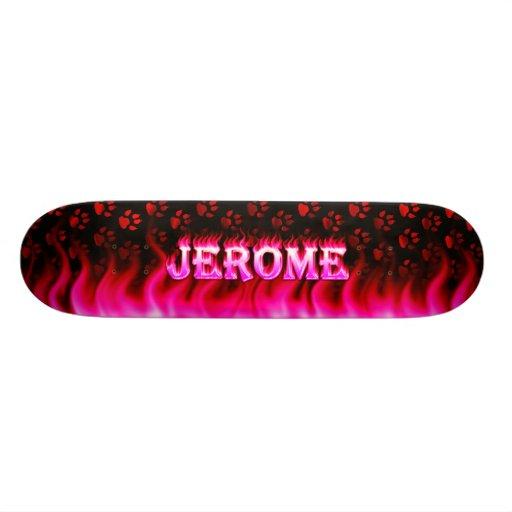 Monopatín rosado de Skatersollie del fuego de Jero