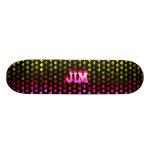 Monopatín rosado de Skatersollie del fuego de Jim
