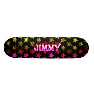 Monopatín rosado de Skatersollie del fuego de Jimm