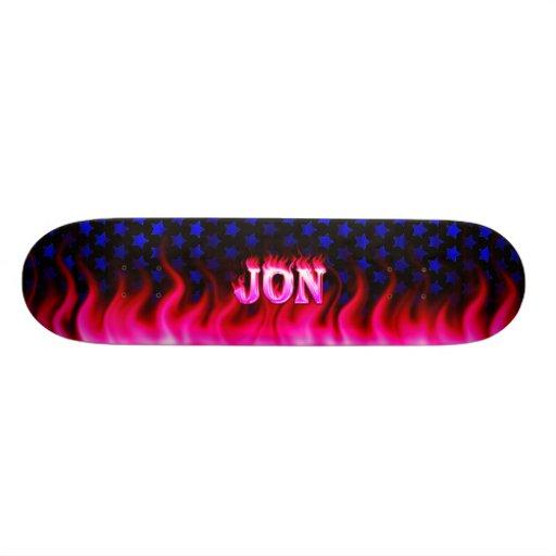 Monopatín rosado de Skatersollie del fuego de Jon Patines