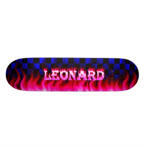 Monopatín rosado de Skatersollie del fuego de Leon