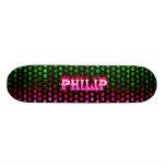 Monopatín rosado de Skatersollie del fuego de Phil