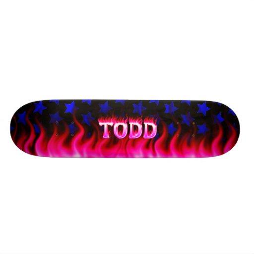 Monopatín rosado de Skatersollie del fuego de Todd Patín Personalizado