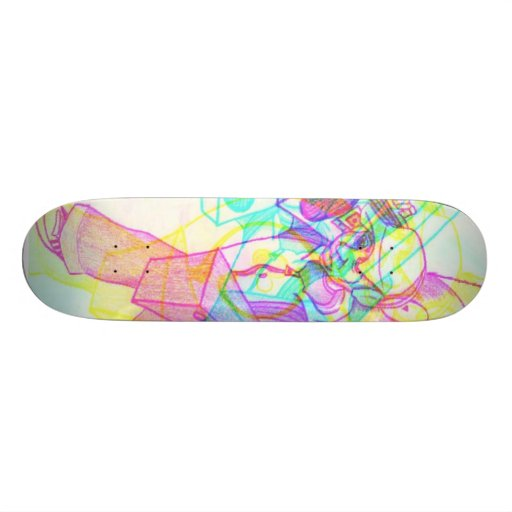 monopatín sano del cambio del color del packin skateboards