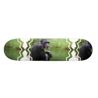 Monopatín tonto del chimpancé skateboards