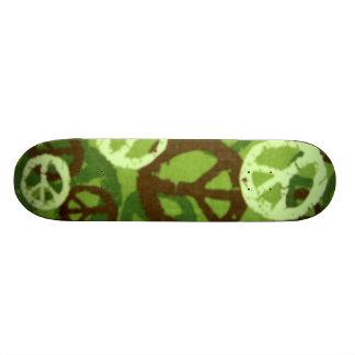 """Monopatín verde de Camo/de los signos de la paz Patineta 7 3/4"""""""