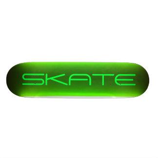 Monopatín verde de neón patineta personalizada