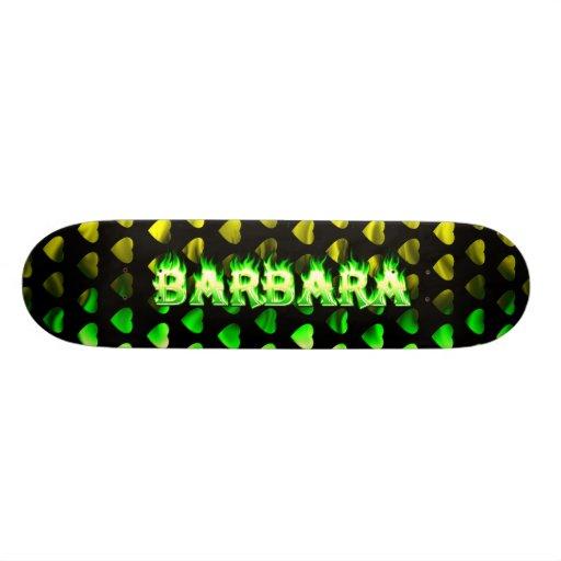 Monopatín verde de Skatersollie del fuego de Barba