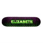 Monopatín verde de Skatersollie del fuego de Eliza
