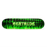 Monopatín verde de Skatersollie del fuego de Gertr