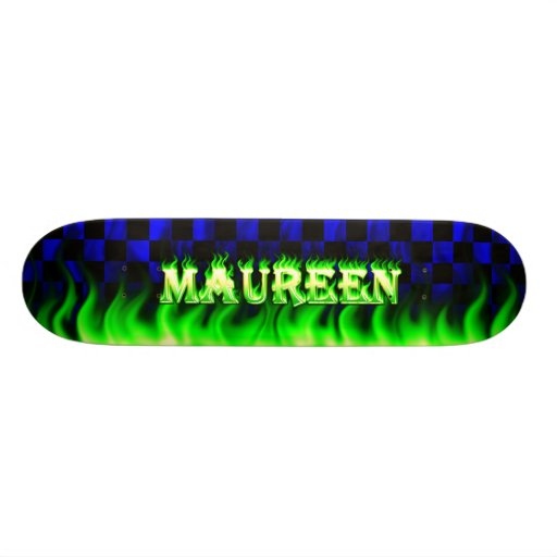 Monopatín verde de Skatersollie del fuego de Maure
