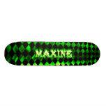 Monopatín verde de Skatersollie del fuego de Maxin