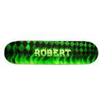 Monopatín verde de Skatersollie del fuego de Rober