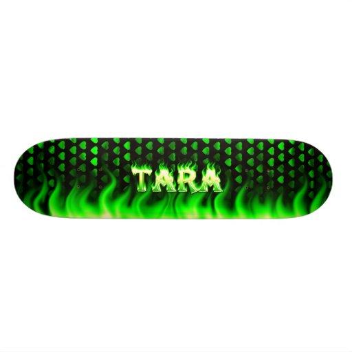 Monopatín verde de Skatersollie del fuego de Tara Tablas De Patinar