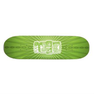 Monopatín verde de Tiki Tablas De Skate
