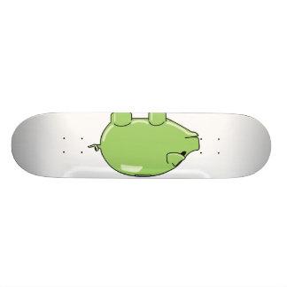 Monopatín verde del cerdo