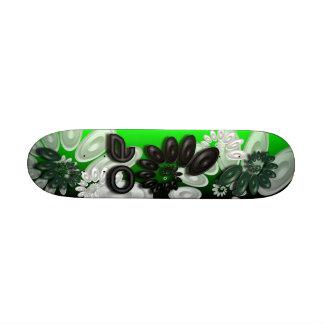 Monopatín verde del vórtice 3,1 de la música patin personalizado