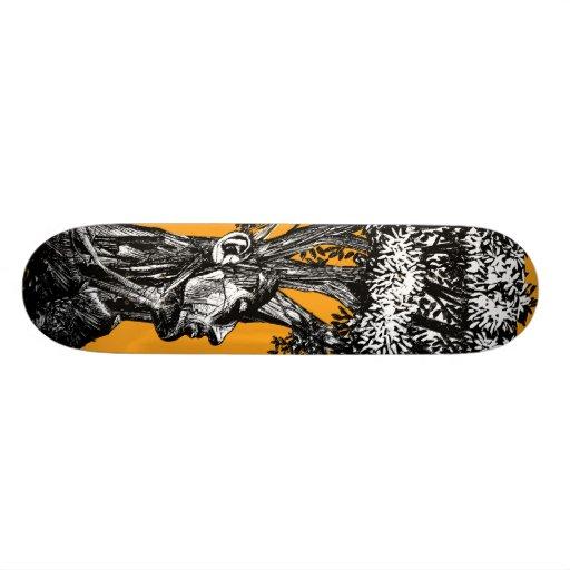 Monopatín vivo patines