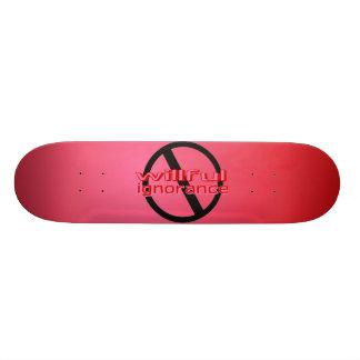 Monopatín voluntarioso del rosa de la ignorancia d patines personalizados