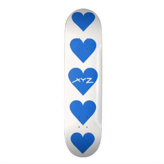 Monopatines azules del personalizado de la tarjeta patines