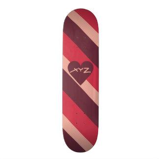 Monopatines de encargo del monograma del corazón d patines personalizados