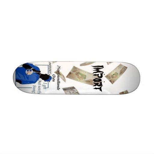 Monopatines de la importación tablas de patinar
