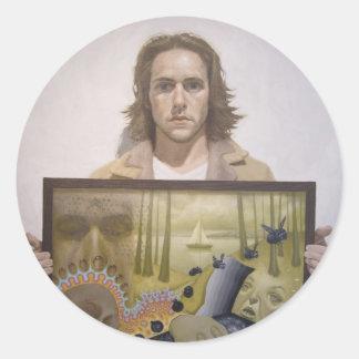 Monophobia Johnny Classic Round Sticker