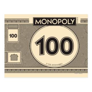 Monopoly | 100 Dollar Bill Postcard