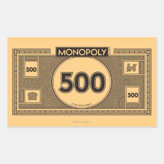 Monopoly | 500 Dollar Bill Rectangular Sticker