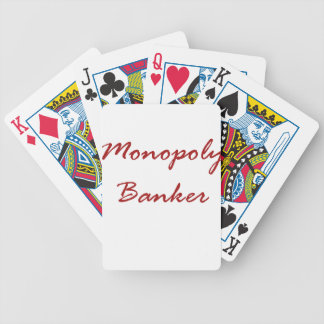 Monopoly Banker Bicycle Playing Cards