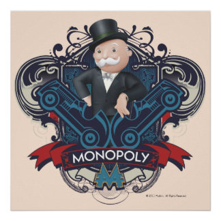 Monopoly Blue Poster