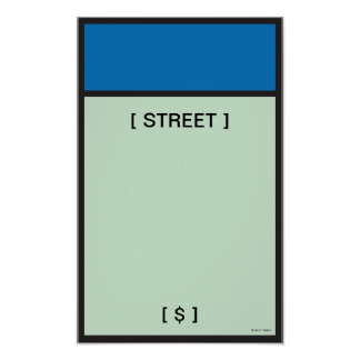 Monopoly | Blue Space Poster