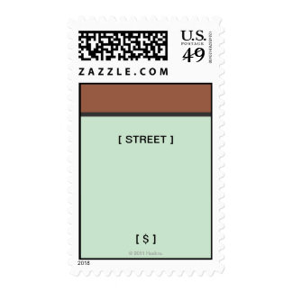 Monopoly | Brown Space Postage
