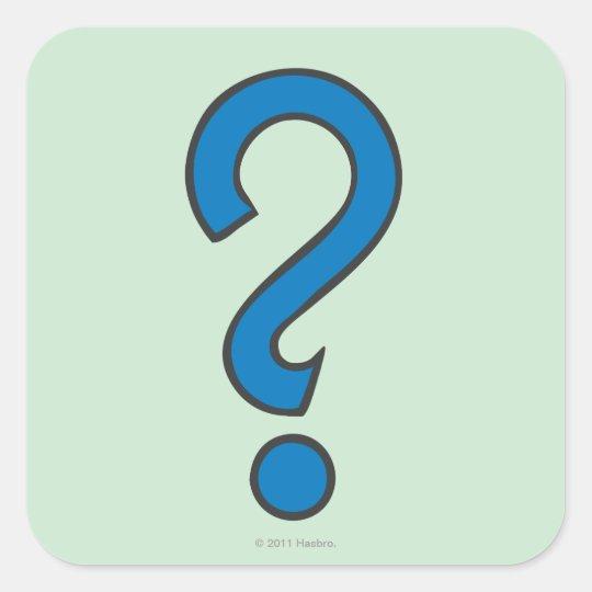 Monopoly | Chance - Blue Square Sticker