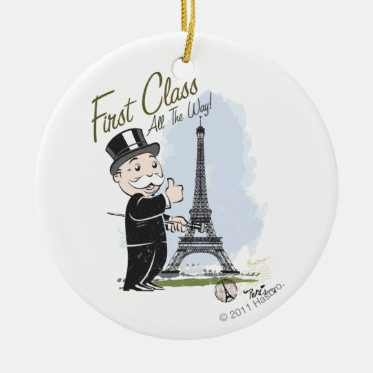 Monopoly | First Class all the Way Ceramic Ornament