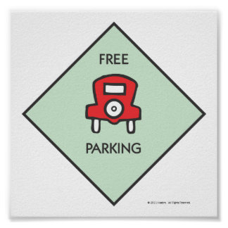 Monopoly | Free Parking Corner Square Poster