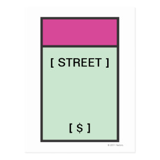 Monopoly | Magenta Space Postcard