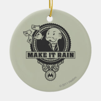 Monopoly | Make it Rain Ceramic Ornament