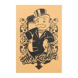 Monopoly | Mr. Right Acrylic Wall Art