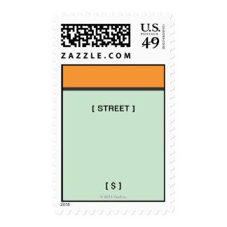 Monopoly | Orange Space Postage