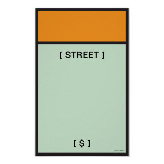 Monopoly | Orange Space Poster